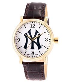 Gametime MLB New York Yankees Men's Shiny Gold Vintage Alloy Watch