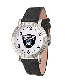 Gametime NFL Oakland Raiders Women's SIlver Vintage Alloy Watch