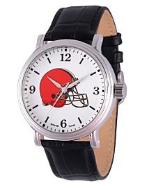 Gametime NFL Cleveland Browns Men's Shiny Silver Vintage Alloy Watch