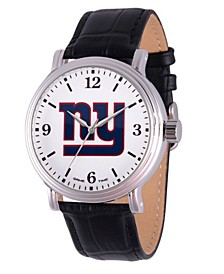 Gametime NFL New York Giants Men's Shiny Silver Vintage Alloy Watch
