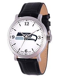 Gametime NFL Seattle Seahawks Men's Shiny Silver Vintage Alloy Watch