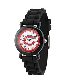 Gametime NFL Chicago Bears Kids' Black Plastic Time Teacher Watch