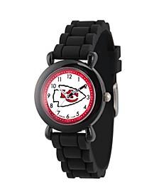 Gametime NFL Kansas City Chiefs Kids' Black Plastic Time Teacher Watch
