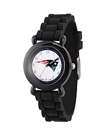 Gametime NFL New England Patriots Kids' Black Plastic Time Teacher Watch