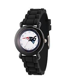Gametime NFL New England Patriots Kids' Black Plastic Time Teacher Watch