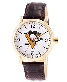 Gametime NHL Pittsburgh Penguins Men's Shiny Gold Vintage Alloy Watch
