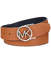 5d21cc0190b MICHAEL Michael Kors Reversible MK Logo Buckle Belt