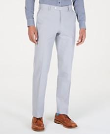 Tommy Hilfiger Men's Modern-Fit THFlex Stretch Light Gray Chambray Suit Pants