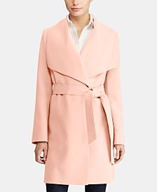 Lauren Ralph Lauren Petite Belted Crepe Coat