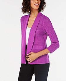 Open-Knit Linen-Blend Cardigan, Created for Macy's