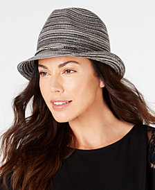 I.N.C. Packable Beaded-Band Fedora, Created for Macy's