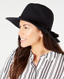 I.N.C. Packable Textured Tassel Panama Hat, Created for Macy's