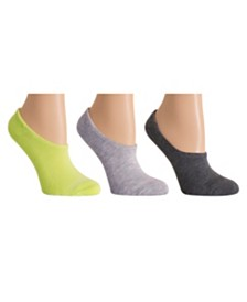 DKNY Sport Women's 3 Pack Cushioned Ultra No-Show Socks