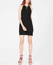 I.N.C. Petite Halter-Neck Bodycon Dress, Created for Macy's