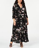 60e3e0880bc I.N.C. Plus Size Floral-Print Shirtdress
