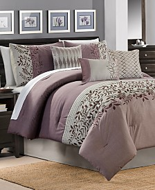 CLOSEOUT! Forester 7-Pc. Plum Comforter Sets