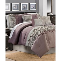 Hallmart Collectibles Forester 7-Pc. Plum Full Comforter Set
