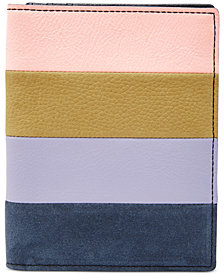 Fossil RFID Leather & Suede Passport Case