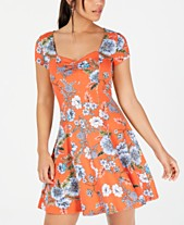 f99633ef6f2 Be Bop Juniors  Princess-Seam Cinch-Front Fit   Flare Dress