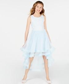 Speechless Big Girls Embroidered High-Low Hem Dress