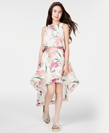 Rare Editions Big Girls 2-Pc. Floral-Print Dress