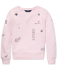 Polo Ralph Lauren Big Girls Graphic French Terry Pullover