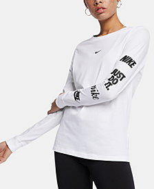 Nike Sportswear Cotton Logo Long-Sleeve Top