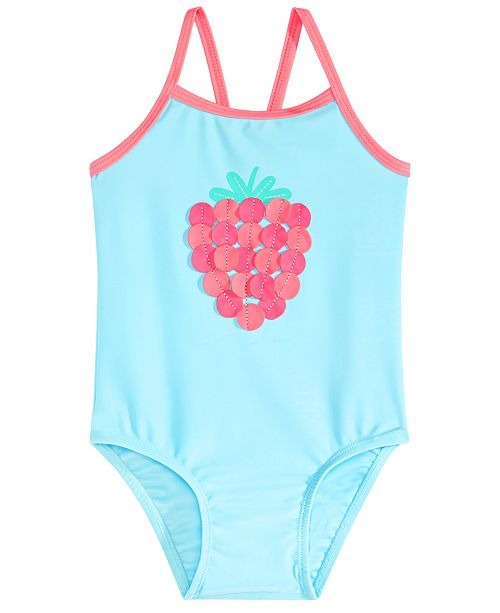 First Impressions Baby Girls Strawberry Swimsuit, Created for Macy's