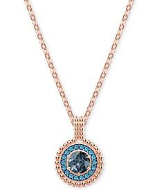 "Swarovski Crystal Circular Pendant Necklace, 14-7/8"" + 4"" extender"