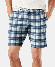 "Dockers Men's DuraFlex Lite Straight-Fit Stretch Moisture-Wicking 9"" Plaid Chino Shorts"