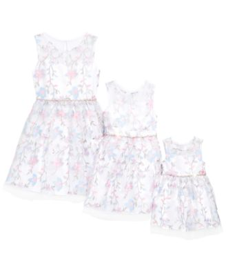 Big Girls Floral Embroidered Dress, Created for Macy's