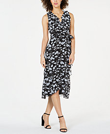Bar III Floral-Print High-Low Dress, Created for Macy's