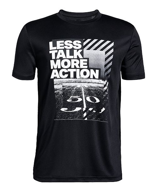 Under Armour Big Boys Action-Print T-Shirt