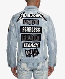 Sean John Men's Patch Back Denim Jacket