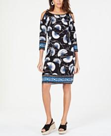 JM Collection Embellished Cold-Shoulder Dress, Created for Macy's