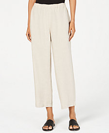 Eileen Fisher Organic Linen Cropped Pants, Regular & Petite