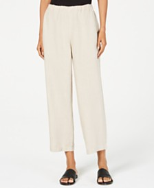 Eileen Fisher Organic Cotton Cropped Pants, Regular & Petite