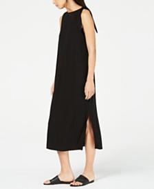 Eileen Fisher Sleeveless Midi Tencel® Shoulder-Tie Dress