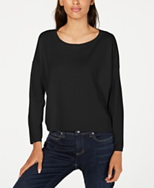 Eileen Fisher Organic Scoop-Neck Sweater, Regular & Petite