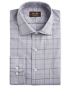 Men's Classic/Regular Fit Non-Iron Supima Cotton Glen Plaid Dress Shirt, Created for Macy's