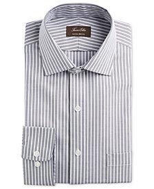Tasso Elba Men's Classic/Regular-Fit Non-Iron Supima Cotton Twill Bar Stripe Dress Shirt, Created for Macy's