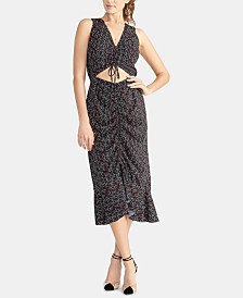 RACHEL Rachel Roy Cutout Drawstring Midi-Dress
