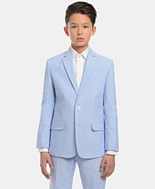 Big Boys Oxford Cotton Suit Jacket