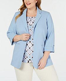 Calvin Klein Plus Size Roll-Tab Jacket