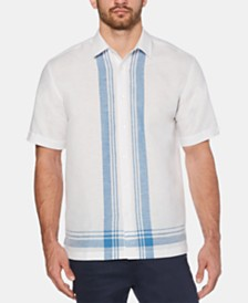 Cubavera Men's Regular-Fit Yarn-Dyed Plaid Linen Shirt