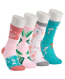 Disney® 4-Pk. Minnie Mouse Palm Springs Crew Socks