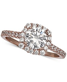 Cubic Zirconia Halo Ring, Created for Macy's