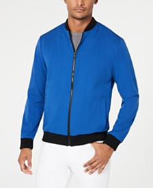 Kenneth Cole New York Men's Mesh Bomber Jacket