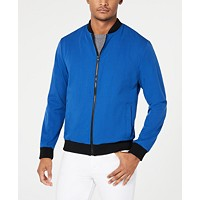 Deals on Kenneth Cole New York Mens Mesh Bomber Jacket