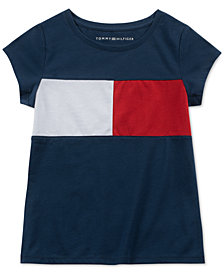 Tommy Hilfiger Baby Girls Pieced Logo Top